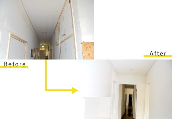 廊下のリフォーム工事ビフォーアフター